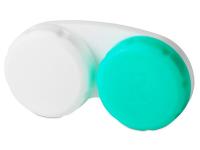 """alensa.lt - kontaktiniai lęšiai - Lęšių dėkliukas """"Žalia ir balta"""""""