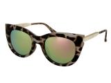 alensa.lt - kontaktiniai lęšiai - Akiniai nuo saulės Alensa Cat Eye Havana Pink Mirror