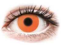 alensa.lt - kontaktiniai lęšiai - ColourVUE Crazy Glow Orange - be dioptrijų
