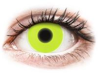 alensa.lt - kontaktiniai lęšiai - ColourVUE Crazy Glow Yellow - be dioptrijų