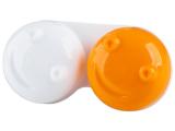 """alensa.lt - kontaktiniai lęšiai - Lęšių dėkliukas """"3D"""" (oranžinis)"""