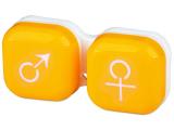 """alensa.lt - kontaktiniai lęšiai - Lęšių dėkliukas """"Vyras ir moteris"""" (geltonas)"""