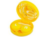 alensa.lt - kontaktiniai lęšiai - Viskas viename lęšių rinkinukas su ornamentais (geltonas)