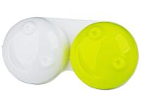 """alensa.lt - kontaktiniai lęšiai - Lęšių dėkliukas """"3D"""" (geltonas)"""