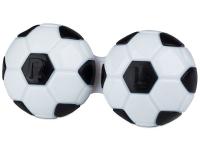 """alensa.lt - kontaktiniai lęšiai - Lęšių dėkliukas """"Futbolo kamuolys"""" (juodas)"""