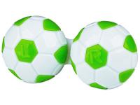 """alensa.lt - kontaktiniai lęšiai - Lęšių dėkliukas """"Futbolo kamuolys"""" (žalias)"""