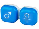 """alensa.lt - kontaktiniai lęšiai - Lęšių dėkliukas """"Vyras ir moteris"""" (mėlynas)"""