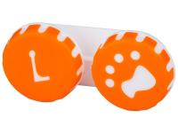 """alensa.lt - kontaktiniai lęšiai - Lęšių dėkliukas """"Letena"""" (oranžinis)"""