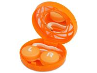 alensa.lt - kontaktiniai lęšiai - Viskas viename lęšių rinkinukas su ornamentais (oranžinis)