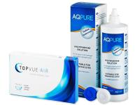 TopVue Air (6 lęšiai) +valomasis tirpalas AQPure360ml