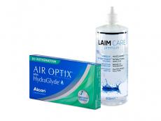 Air Optix plus HydraGlyde for Astigmatism (3 lęšiai) + valomasis tirpalas Laim-Care 400 ml
